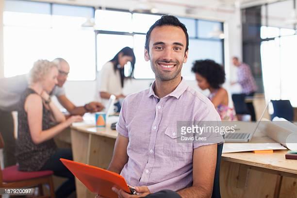 Portrait of businessman in modern office
