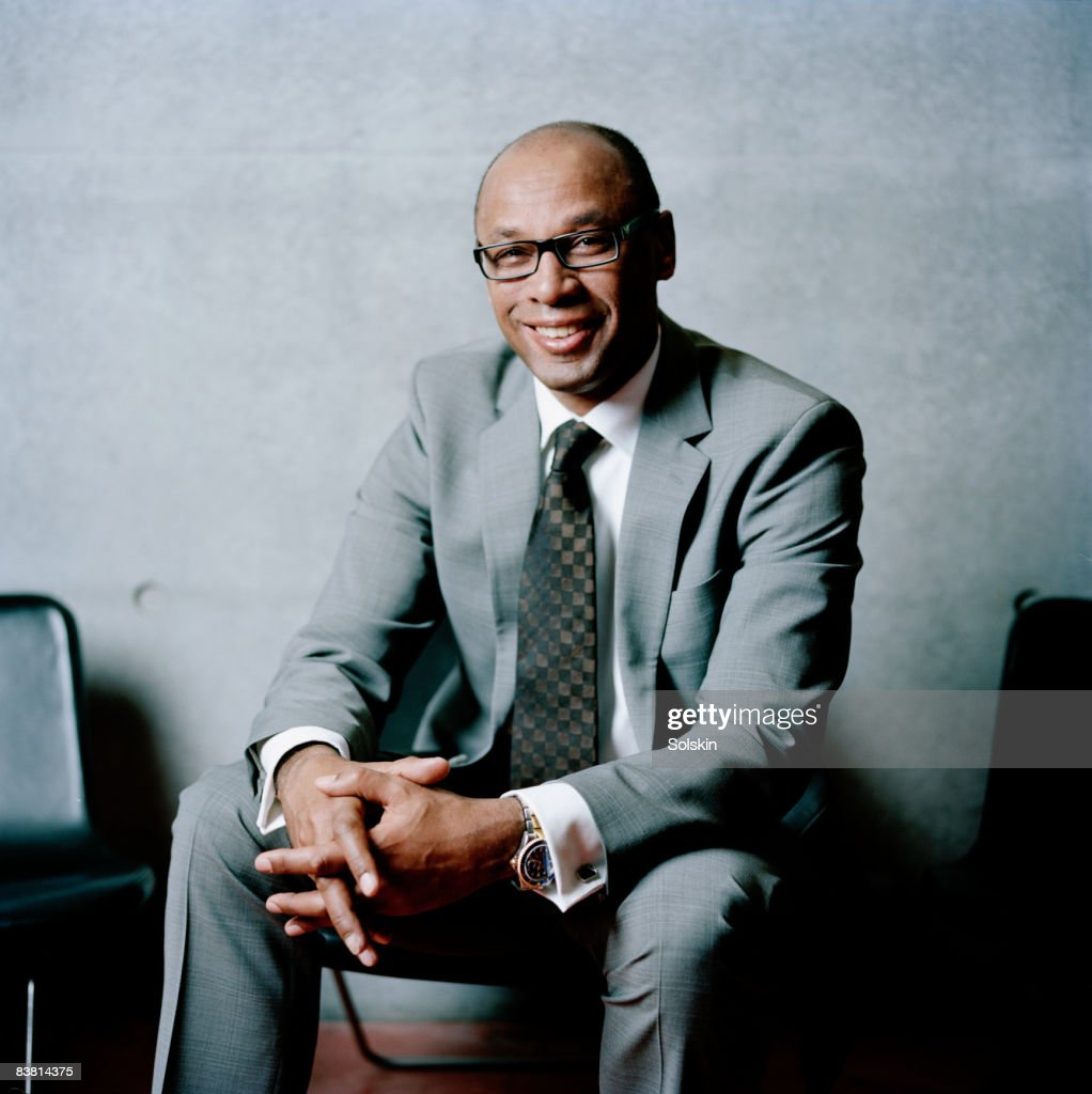 portrait of businessman in modern office : Stock Photo