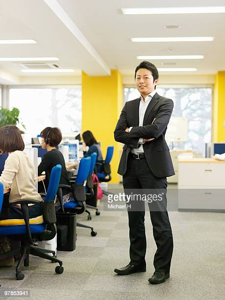 Portrait of businessman in office