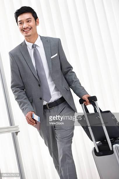 Portrait of businessman on trip