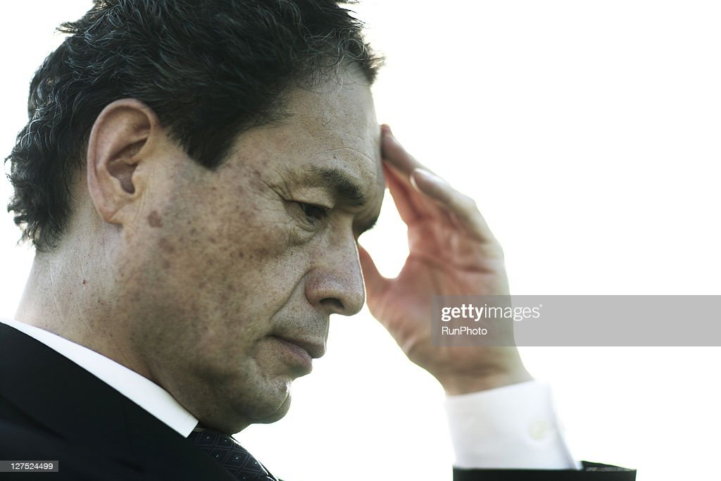 Portrait of businessman outdoors : Stock Photo