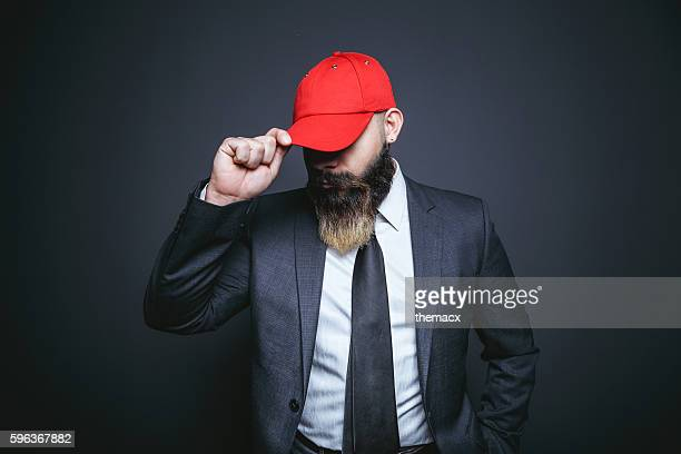 portrait of businessman - red hat stock pictures, royalty-free photos & images