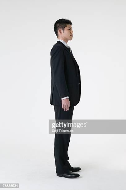 portrait of businessman - 横からの視点 ストックフォトと画像