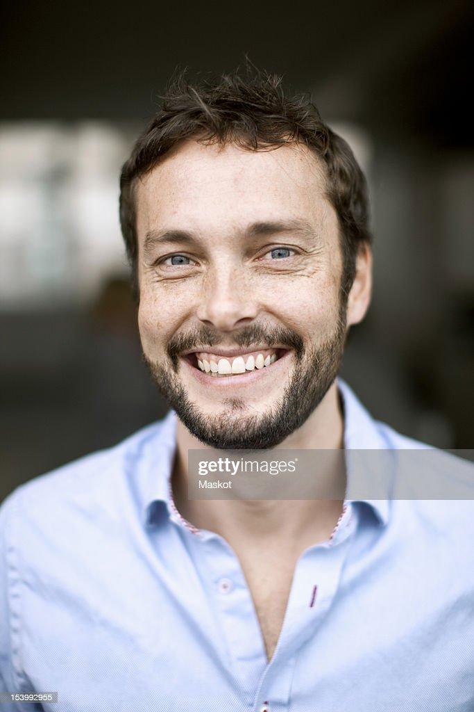 Portrait of businessman smiling : Stock Photo