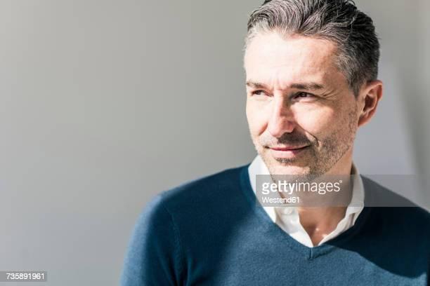 portrait of businessman with stubble - homem 45 anos imagens e fotografias de stock