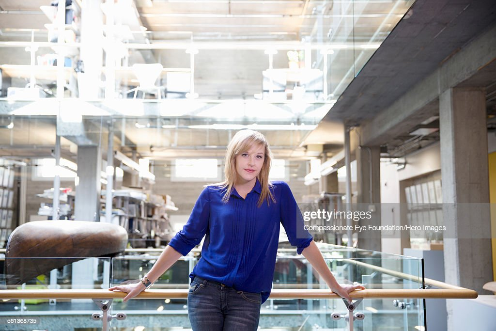 Portrait of  businesswoman in modern office : Stock Photo