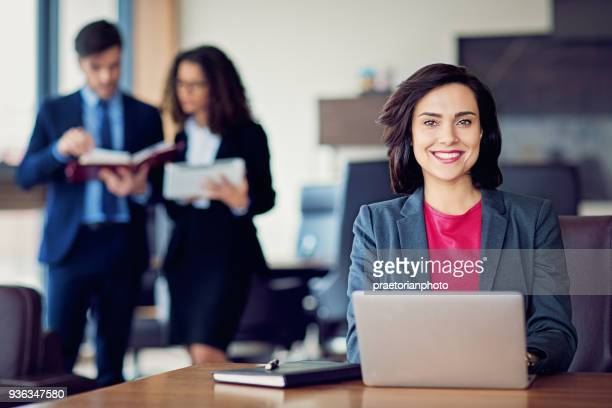 Portrait of businesswoman in the CEO office