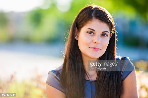 Portrait of businesswoman outdoors