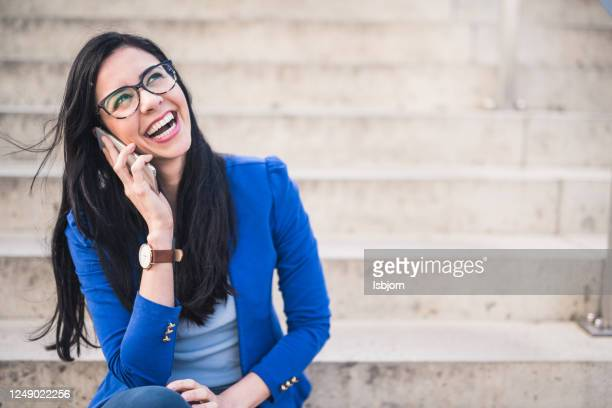 portrait of businesswoman. - toothy smile stock pictures, royalty-free photos & images