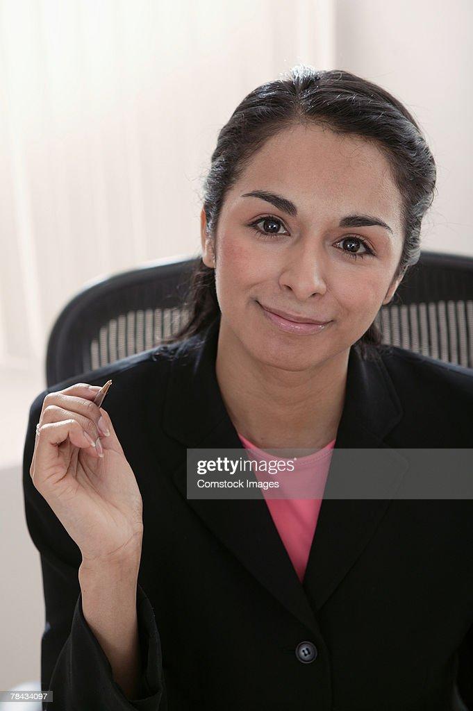 Portrait of businesswoman smiling : Stockfoto