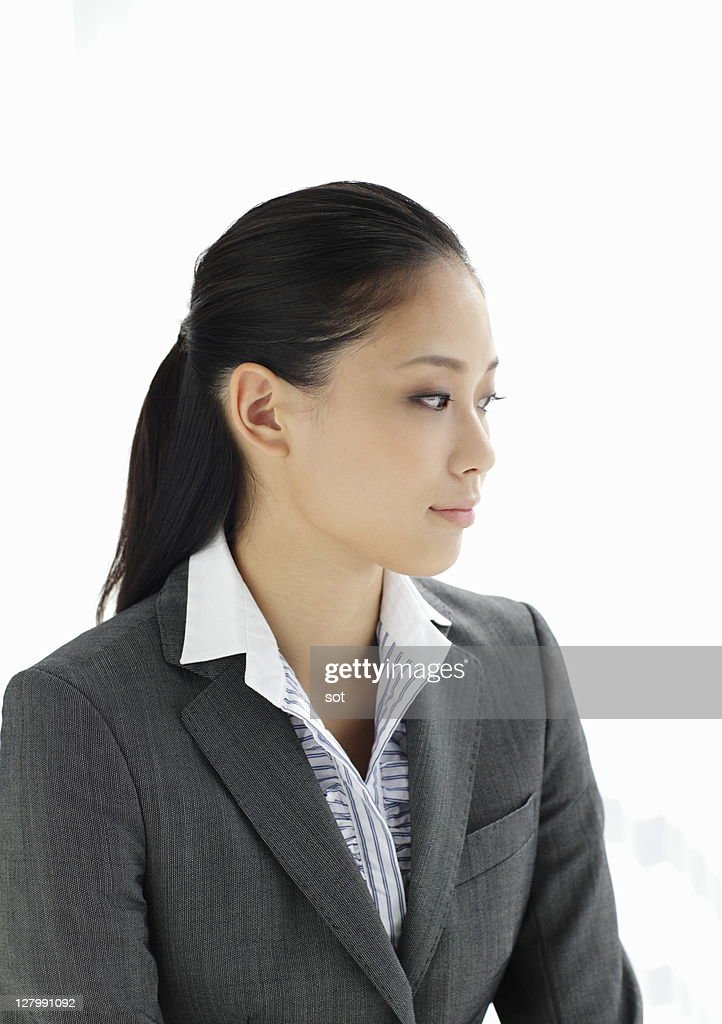 Portrait of businesswoman,side view : Stockfoto