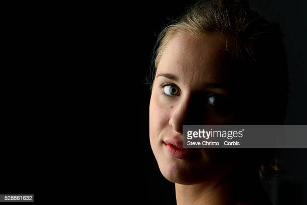 Portrait of Butterfly swimmer Madeline Groves at the Brisbane Aquatic Centre Brisbane Australia Sunday 6th April 2014