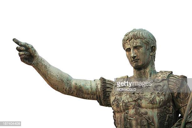 portrait of caesar augustus, rome italy - emperor stock pictures, royalty-free photos & images