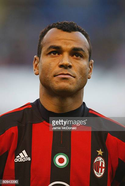 Portrait of Cafu of AC Milan during the UEFA Champions League match between Deportivo La Coruna and AC Milan at the Estadio Municipal de Riazor on...