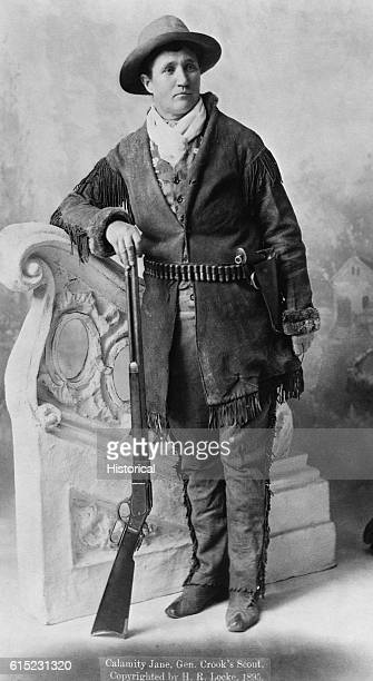 Portrait of Calamity Jane a frontierswoman who supposedly scouted for General Custer and later travelled with Wild Bill Hickok
