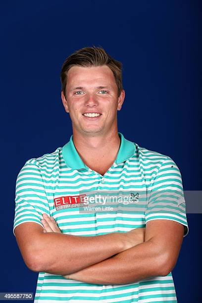 A portrait of Callum Shinkwin of England ahead of the first round of the NBO Golf Classic Grand Final at the Almouj Golf Club The Wave on November 4...