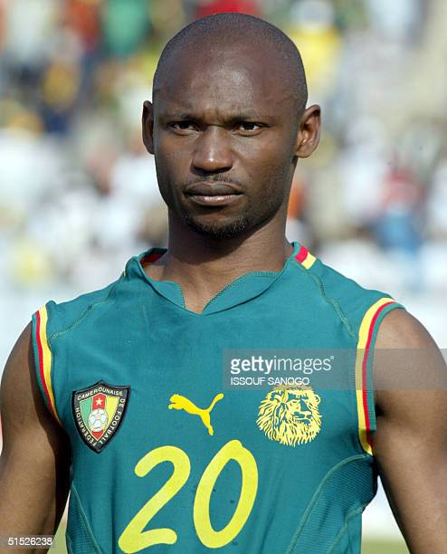 Portrait of Cameroon national soccer team midfielder Salomon Olembe taken 04 February 2002 in Sikasso before a quarterfinal match between Cameroon...