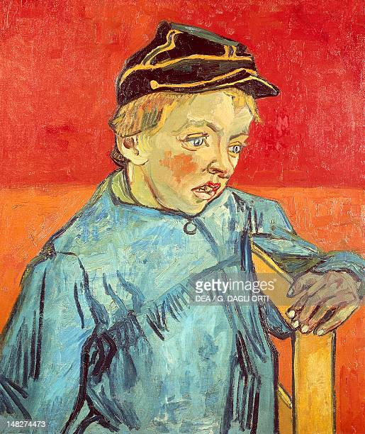 Portrait of Camille Roulin, the postman's son or The schoolboy by Vincent van Gogh , oil on canvas, 63x54 cm. ; San Paolo, Museu De Arte De Sao Paulo...