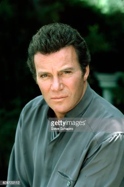 Portrait of Canadian actor William Shatner as he poses outdoors at his ranch Three Rivers California 1982