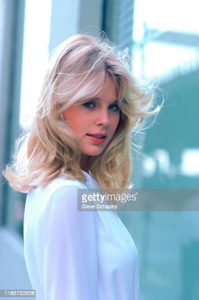 Portrait of Canadian actress Dorothy Stratten on the set of the film 'They All Laughed' New York New York 1980