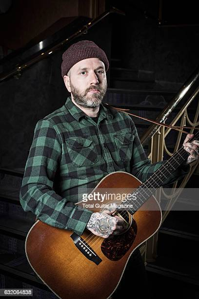 Portrait of Canadian musician Dallas Green guitarist and vocalist with indie rock group City And Colour photographed before a live performance at...