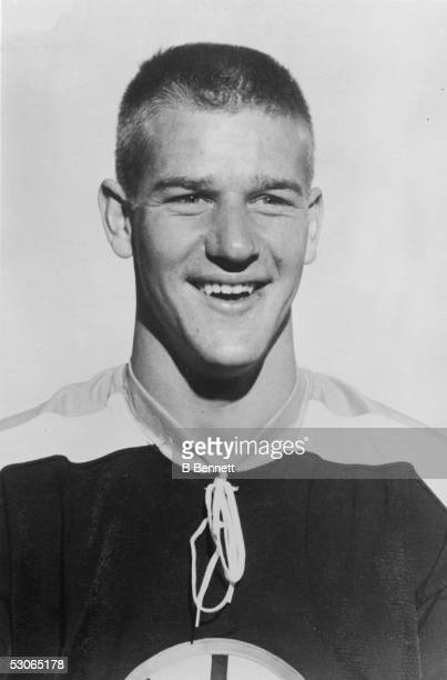 Portrait of Canadian professional ice hockey player defenseman Bobby Orr of the Boston Bruins, late 1960s.