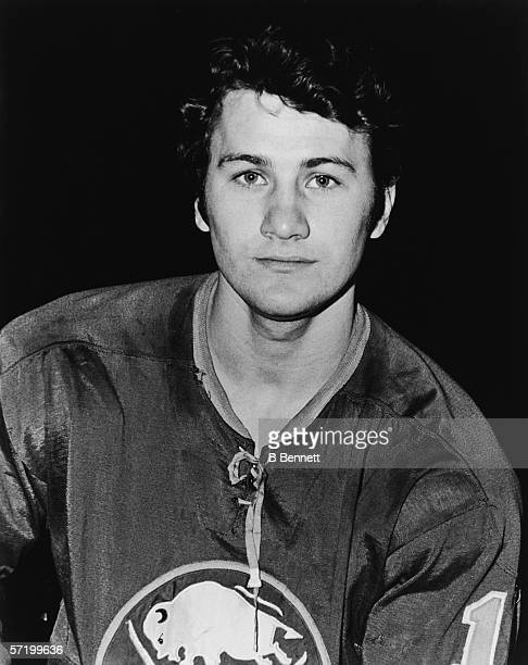 Portrait of Canadian professional ice hockey player Gilbert Perreault of the Buffalo Sabres early 1970s Perreault played with the Sabres from 1970 to...