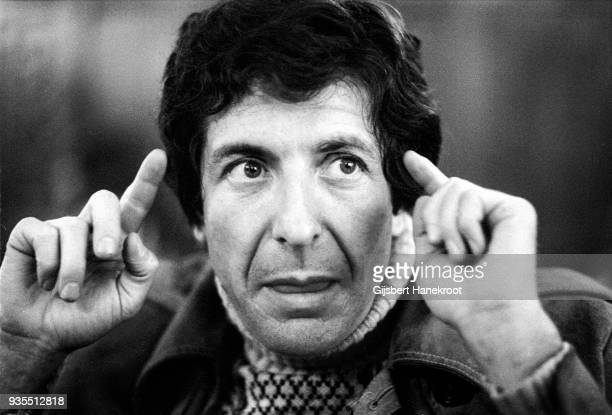 A portrait of Canadian singersongwriter Leonard Cohen in April 1972 in Amsterdam Netherlands
