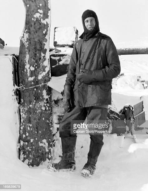 A portrait of Captain Lawrence Oates at Cape Evans taken during the last tragic voyage to Antarctica by Captain Robert Falcon Scott circa October...