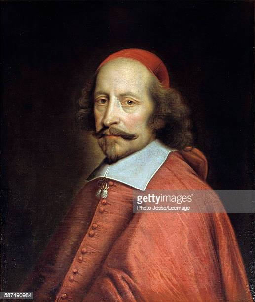 Portrait of Cardinal Jules Mazarin Painting by Pierre Mignard 1661 065 x 055 m Conde Museum Chantilly France