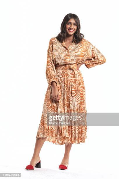 portrait of carefree woman - full length stock pictures, royalty-free photos & images