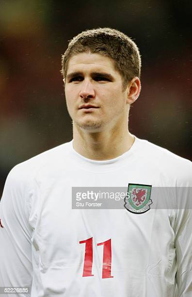 A portrait of Carl Robinson of Wales prior to the friendly International match between Wales and Hungary at the Millennium Stadium on February 9 2005...
