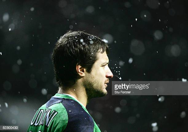 A portrait of Carlo Cudicini of Chelsea during the 5th Round FA Cup match between Newcastle United and Chelsea at St James Park on February 20 2005...
