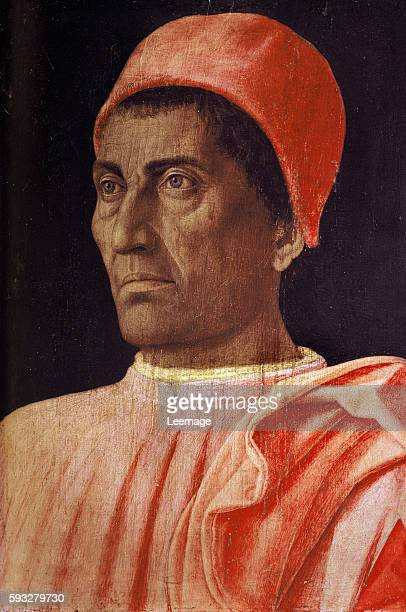 Portrait of Carlo di Cosimo de Medici italian clergyman and collector Painting by Andrea Mantegna tempera on panel 1466 Dim 405x295 cm Florence...