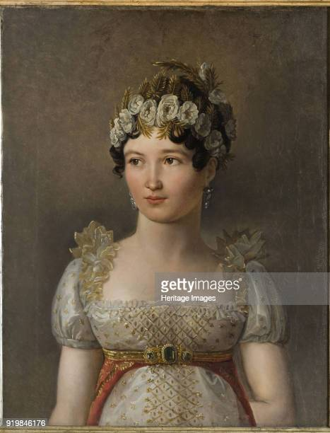 Portrait of Caroline Bonaparte Princesse Française Grand Duchess of Berg and Cleves Queen Consort of Naples 1809 Found in the collection of Galleria...