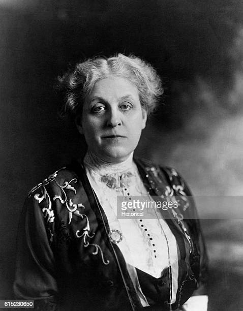 Portrait of Carrie Catt suffragette and a leader in the movement to adopt the 19th Amendment to the Constitution