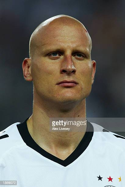 Portrait of Carsten Jancker of Germany before the Germany v Cameroon Group E World Cup Group Stage match played at the Shizuoka Stadium Ecopa...