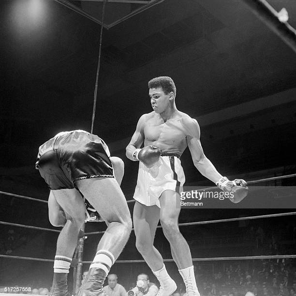 Portrait of Cassius Clay Boxing Sonny Banks