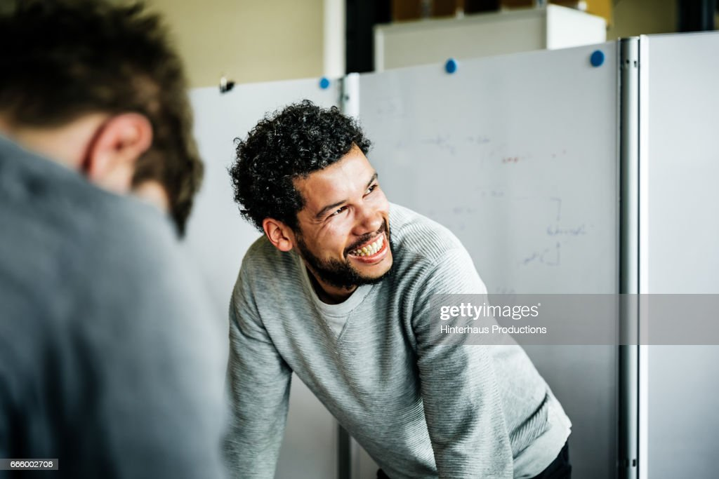 Portrait of casual businessman during meeting : Photo