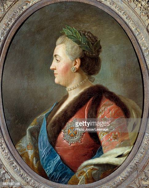 Portrait of Catherine II Empress of Russia Painting after Pietro Antonio Rotari french scool 18th century 079 x 063 m Castle Museum Versailles France