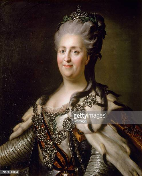Portrait of Catherine II of Russia Anonymous painter17801790 Dim 85x68 cm Schloss Ambras Innsbruck Austria