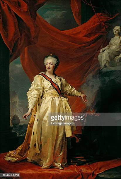 Portrait of Catherine II the Legislatress in the Temple Devoted to the Godess of Justice Early 1780s Found in the collection of the State Tretyakov...