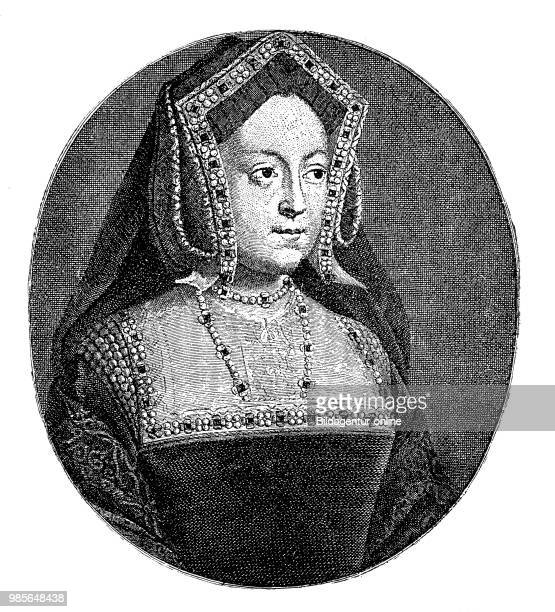 Portrait of Catherine of Aragon also Catherine of Aragon, 15 December 1485 - 7 January 1536, was the first wife of Henry VIII Queen of England, her...