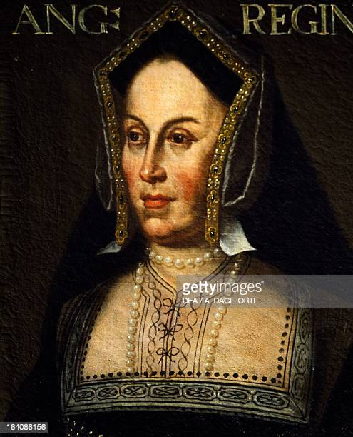 Portrait of Catherine of Aragon Queen Consort of England Painting by unknown artist Florence Galleria Degli Uffizi