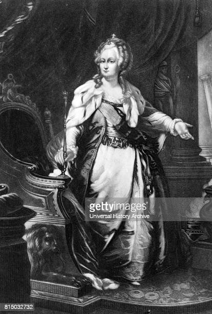 Portrait of Catherine the Great ruler of Russia Dated 18th Century