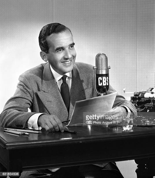 Portrait of CBS News correspondent Edward R Murrow New York NY Image dated September 10 1947