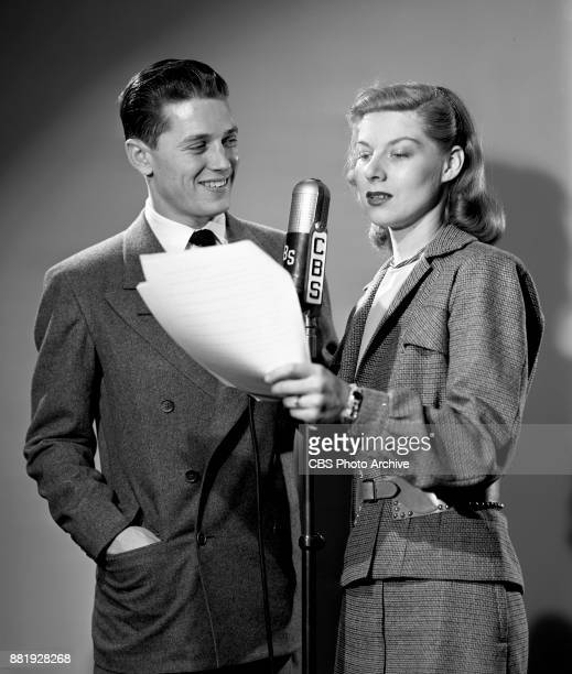Portrait of CBS Radio singer Gordon MacRae and his wife Sheila Stevens December 26 1945 New York NY