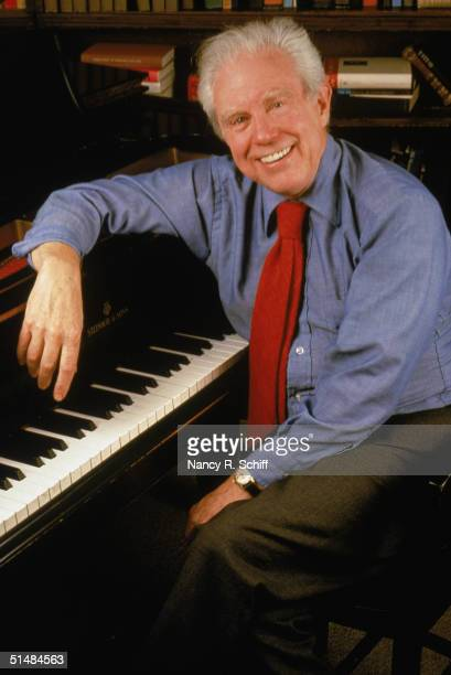 Portrait of celebrated American composer Elliott Carter seated at a piano, 1980. Carter is the recipient of two Pulitzer Prizes for commissioned...