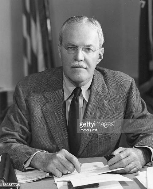Portrait of Central Intelligence Agency Director Allen W Dulles Washington DC Janaury 1952