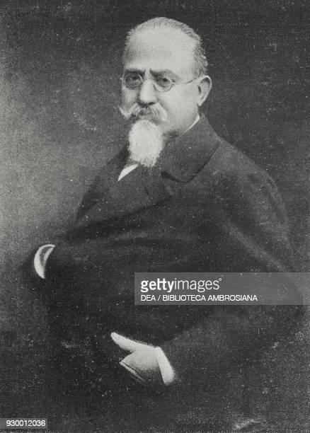 Portrait of Cesare Lombroso Italian physician anthropologist and jurist from L'Illustrazione Italiana Year XXXVI No 43 October 24 1909